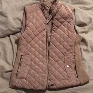 Jackets & Blazers - Tan Equestrian Puffer Vest